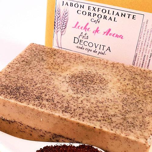 Jabón Exfoliante de Café y Avena