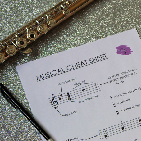 The Music Cheat Sheet: Help Out Your Struggling Students!