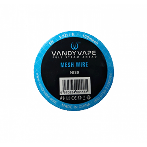 Vandy Vape Mesh Wire Ni80 5ft. 1.8Ω / ft - 100mesh