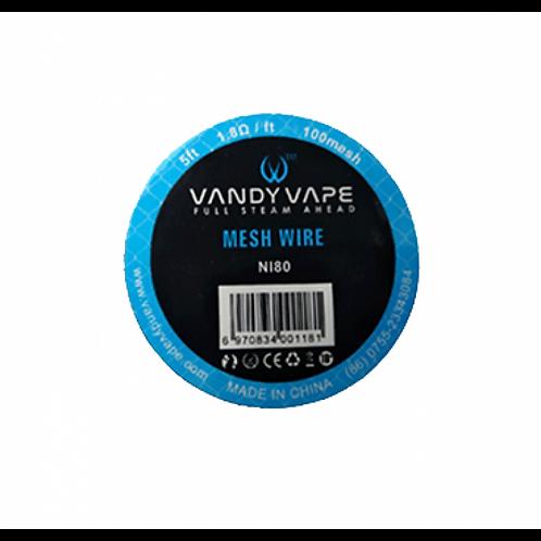 Vandy Vape Mesh Wire Ni80 5ft. 1.8Ω / ft - 100mesh