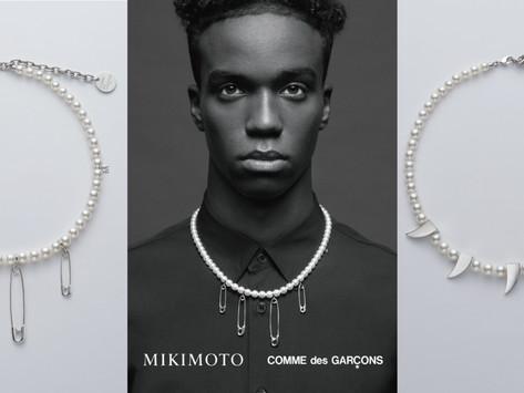 鉚釘、尖牙珍珠項鍊 ,戴上後女的酷男的帥!|MIKIMOTO二度攜手川久保玲