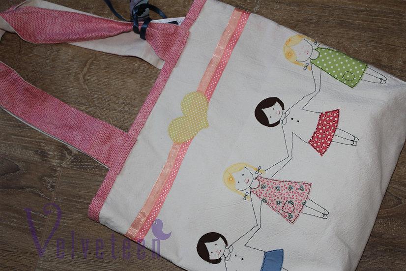 Dollie Chain Cotton Tote Bag