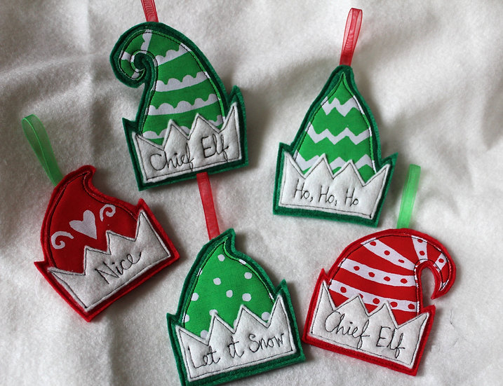 Personalised Cute Elf Hat Decoration