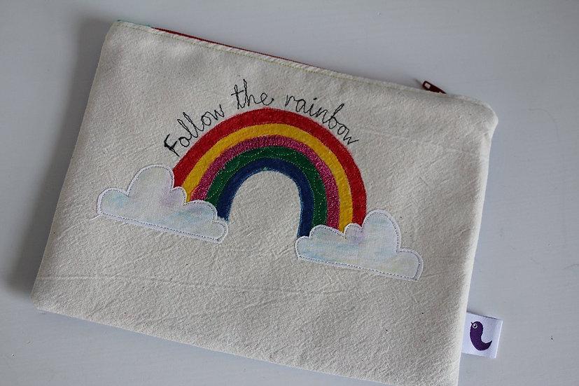 Follow the Rainbow cotton purse