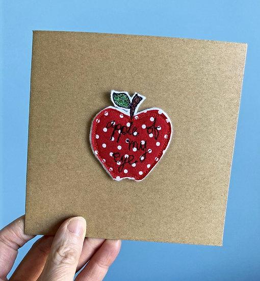 Apple of My Eye Keepsake Card