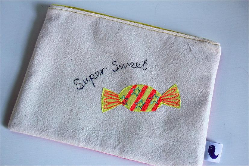 Super Sweet Cotton Zip purse
