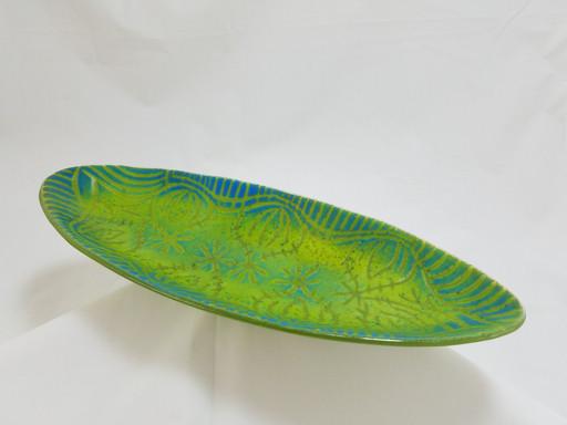 Sold; 14x5.5 Batik Oval Bowl