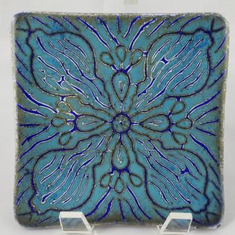 Sold; 6x6 Batik Plate