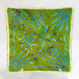 Available;  6x6 Batik Plate