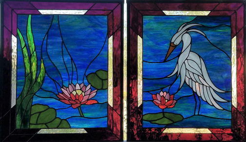 Egret in Lotus Pond