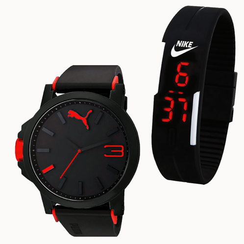 Zaktualizowano Puma Men's Wrist Watch & LED Watch Combo NS37