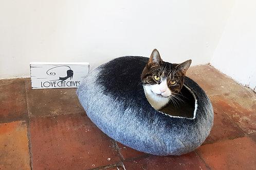 Grey & Black cat bed