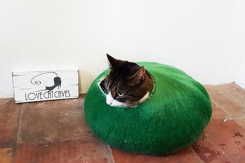 Green cat bed