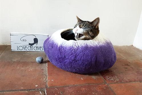Purple & White cat bed