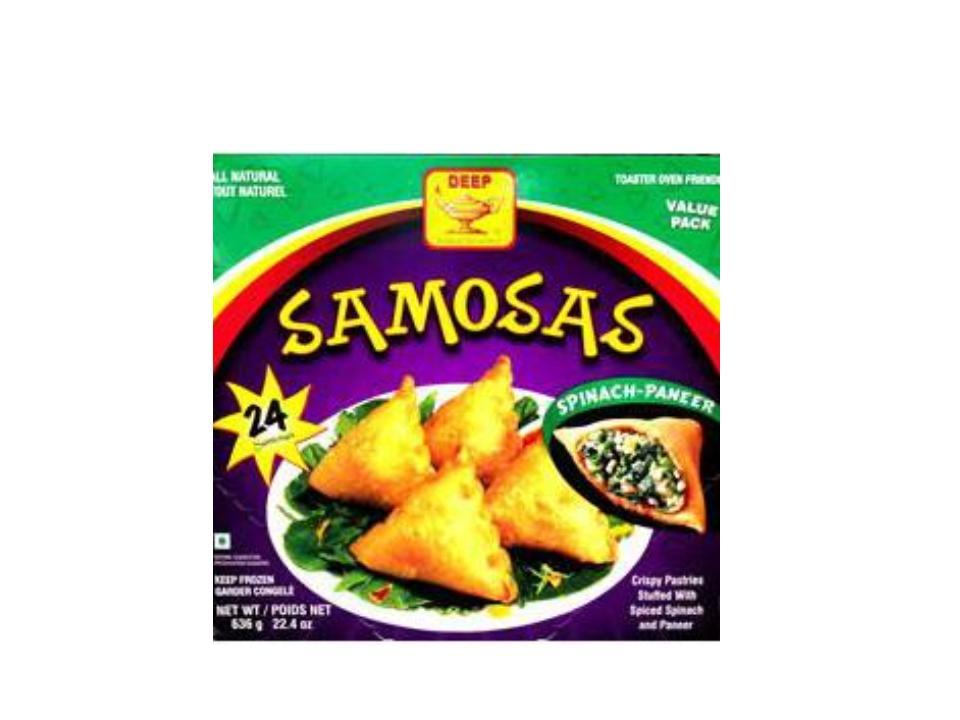 F. Deep Spinach Samosa