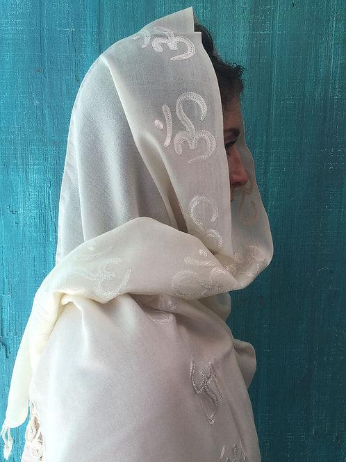 Fine Wool Om Meditation Shawl