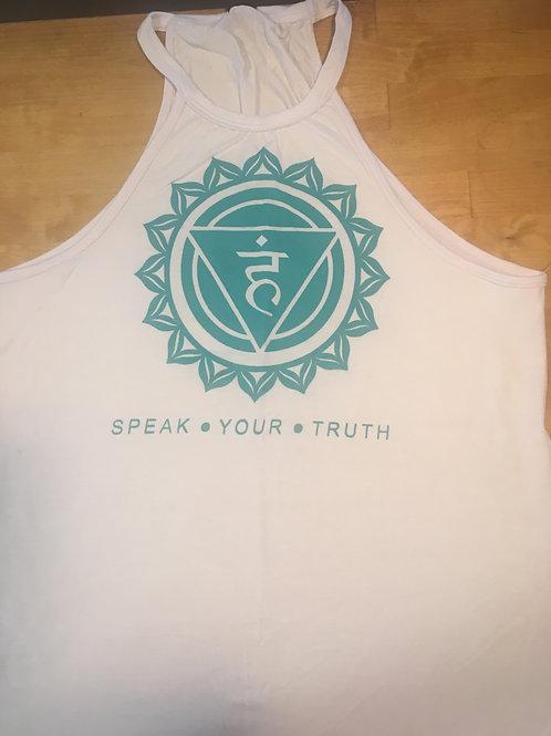 Speak Your Truth Tank - White