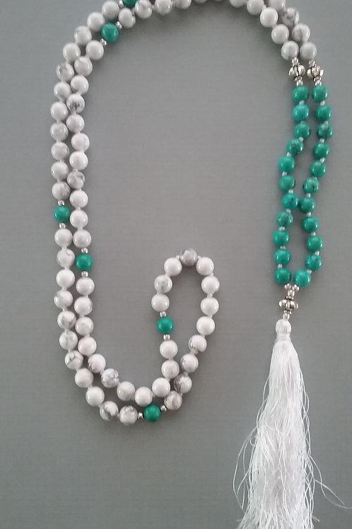 White Howlite & Tibetan Turquoise