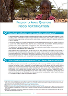 Food Fortification FAQ