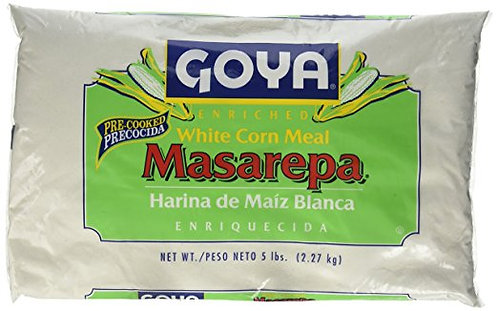 Goya Masarepa Pre-Cooked White Corn Meal, 5 Pound