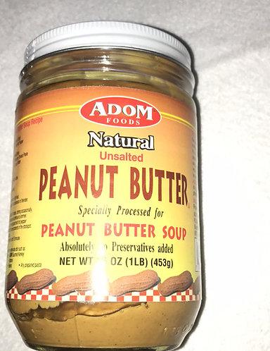 Adom Unsalted peanut butter