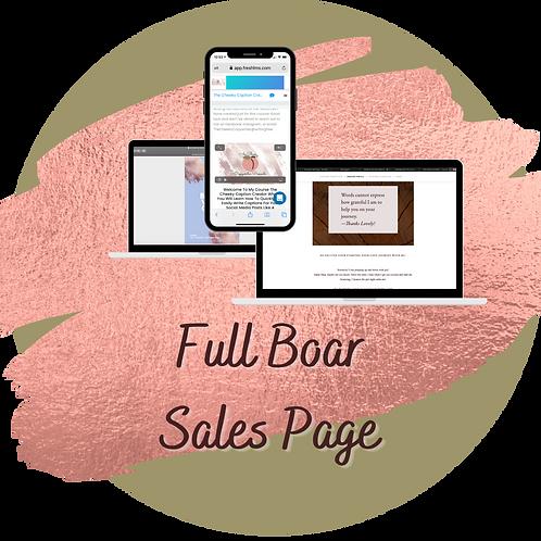 Full Boar Sales Page