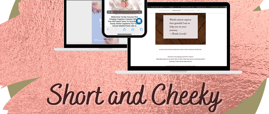 Short & Cheeky Sales Page