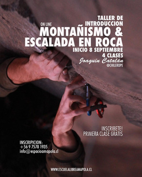 Taller de Introducción Online: MONTAÑISMO & ESCALADA EN ROCA