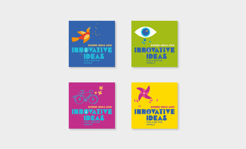A set of stickers that were handed out to students. We spotted these on notebooks, phone covers, notice boards and t-shirts too!