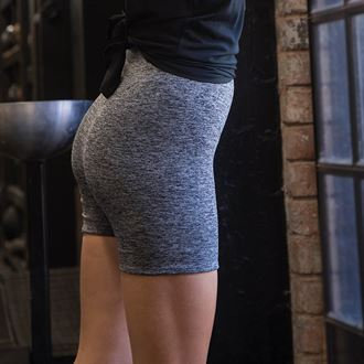 Women's Seamless Shorts - Dark Grey Marl
