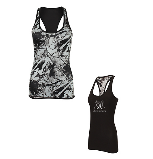 Reversible Workout Vest - Black/Print