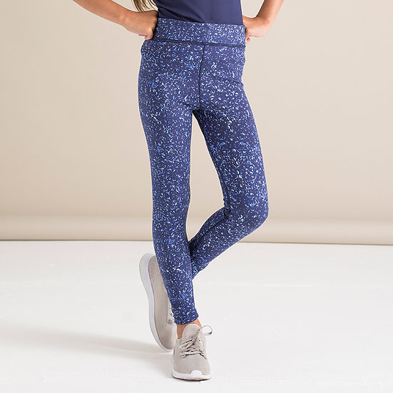 Reversible Leggings - Navy/Bubbles