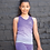Thumbnail: Kids Seamless Fade-Out Vest - Purple/Light Grey Marl