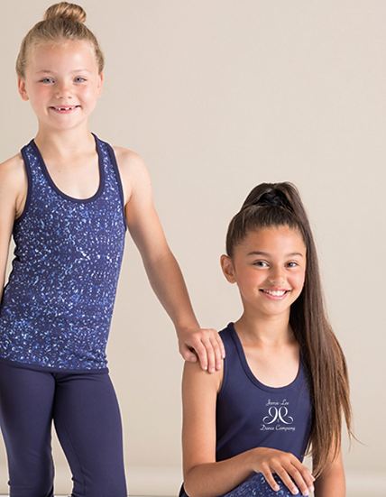 Reversible Workout Vest - Navy/Bubbles