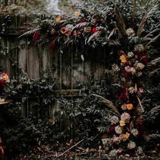 Autumn Arch of Flowers Garden Wedding