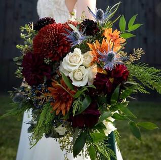 Late Autumn bridal bouquet
