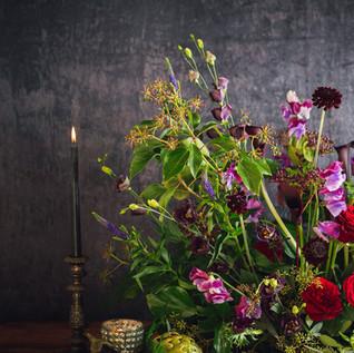 Deep Plum Flowers
