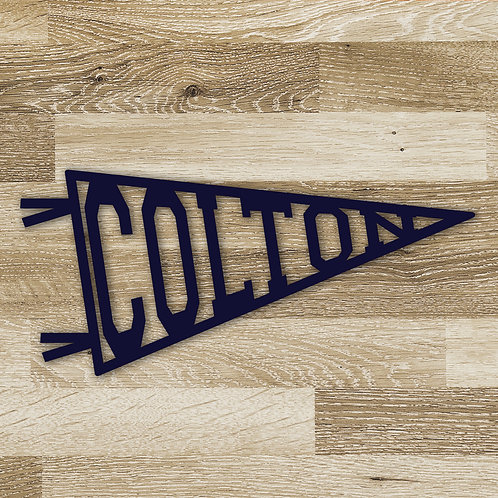 Name or Word Pennant Banner