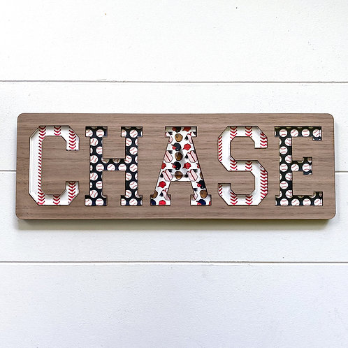 Home Run Wooden Name Puzzle