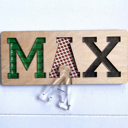 Football Wooden Name Puzzle