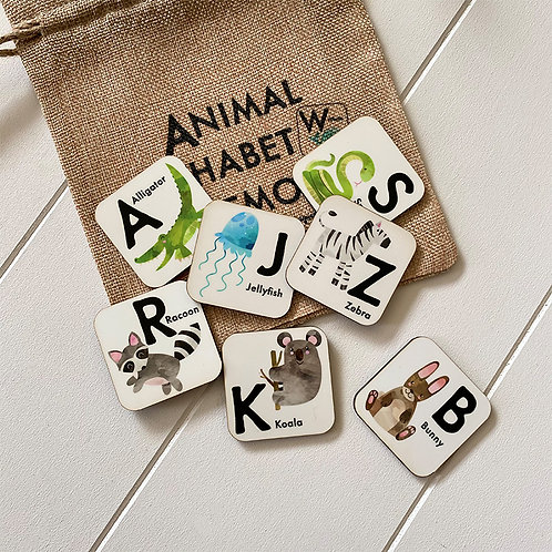 Animal Alphabet Memory Game