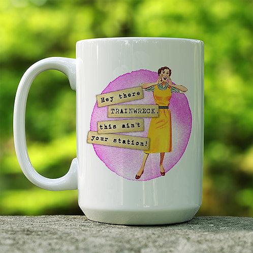 Train Wreck Coffee Mug