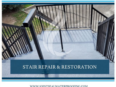 Concrete Stair and Landing Restoration in Mississauga Complete