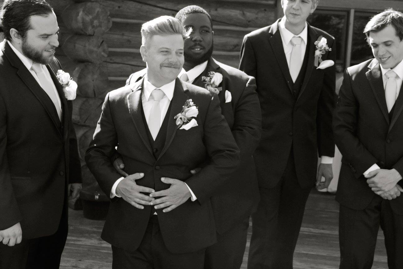 Groomsman for Sam Tallent