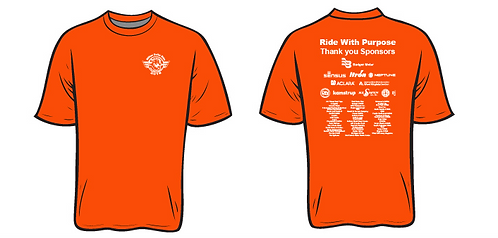 Ride with Purpose- 2016 Sponsorship Shirt