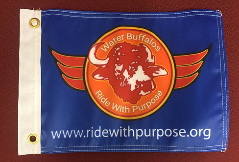 Ride with Purpose Motorcycle Flag