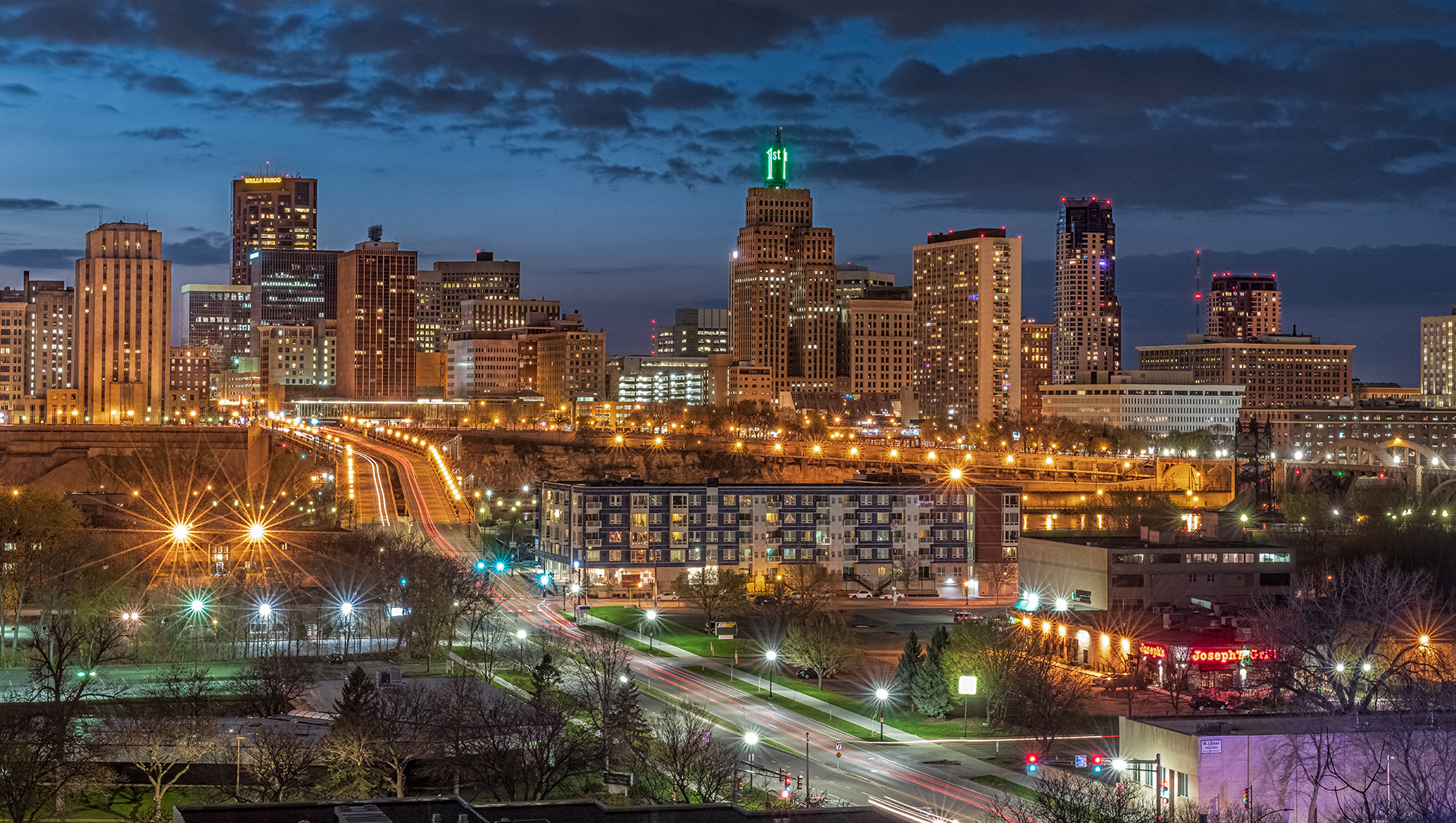 Bruce Barsness - City of St Paul at Nigh