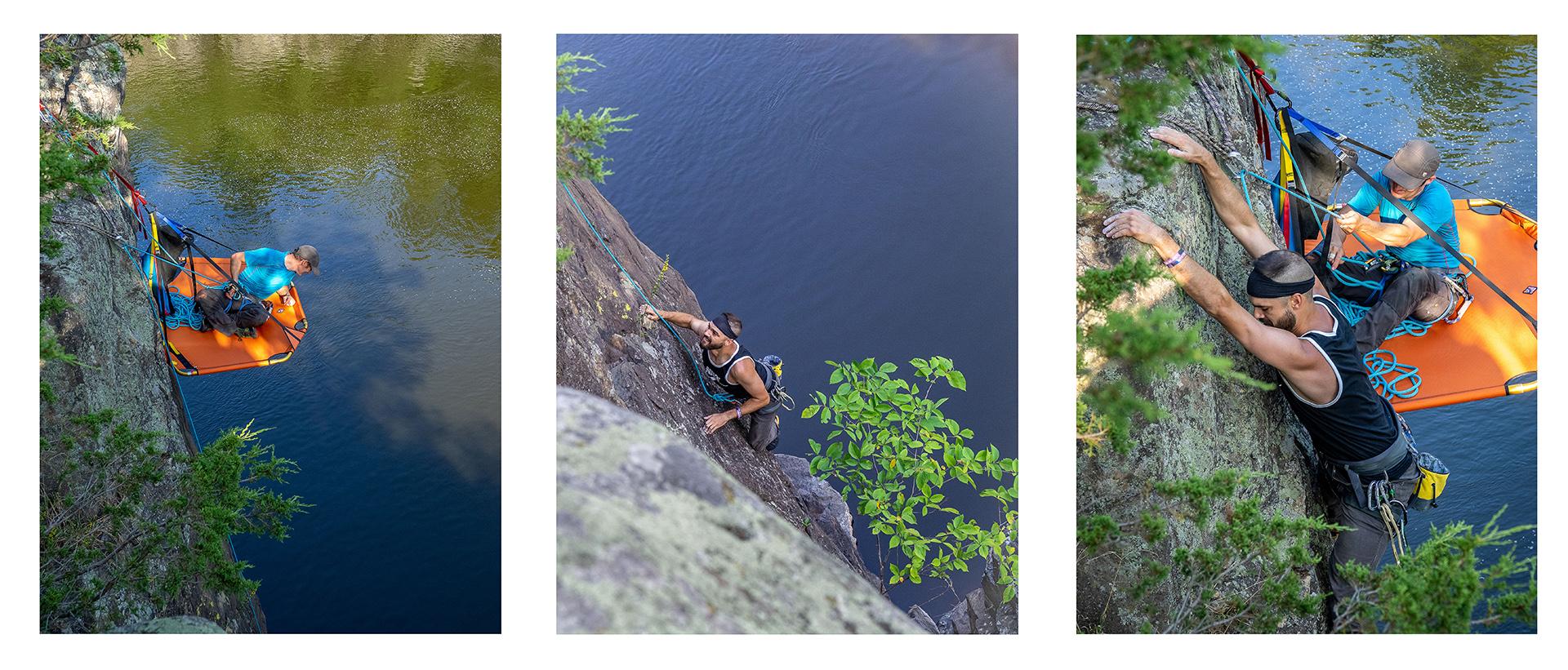 Pat Boudreau - Climbing on the St Croix.