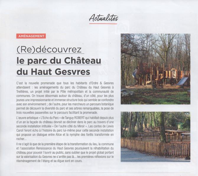 (Re) découvrez le parc du château du Haut Gesvres (article d'erdregesvres le mag n° 56 février 2021