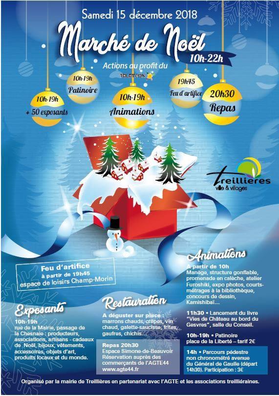 Renaissance du Haut Gesvres présente au Marché de Noël le 15 décembre à Treillières
